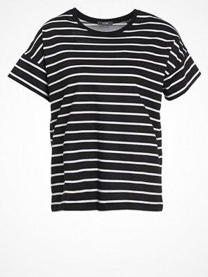 KIOMI Tshirt med tryck black/white