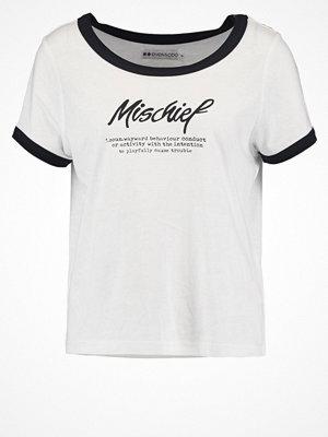 Even&Odd Tshirt med tryck black/white