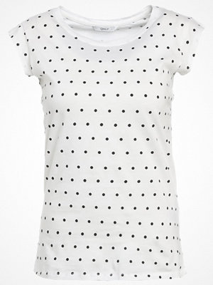 Only ONLBONE Tshirt med tryck cloud dancer/black