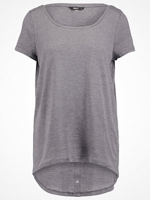 Only ONLCASA Tshirt med tryck medium grey melange