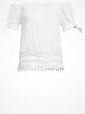 Vero Moda VMAYA  Tshirt med tryck snow white