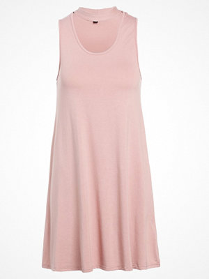 Topshop CHOKER FLIPPY TUNC Jerseyklänning blush