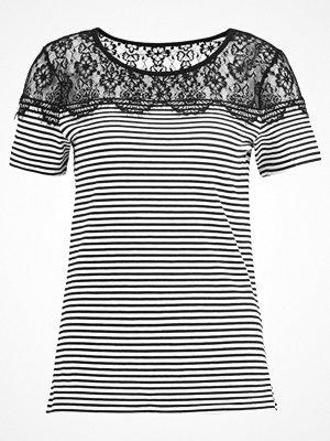 Anna Field Tshirt med tryck black/white