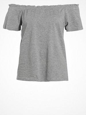 Vero Moda VMENJOY Tshirt med tryck light grey melange