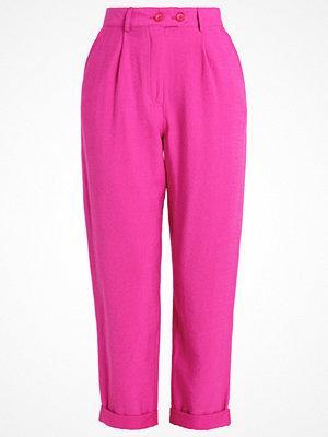 Topshop Tygbyxor brightpink rosa