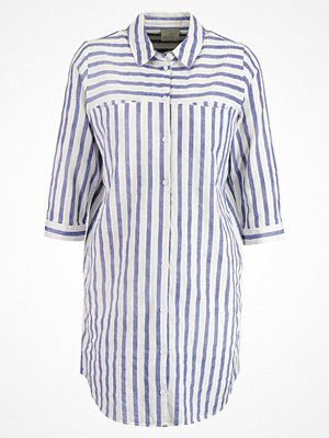 Skjortor - Vero Moda VMSTRIPY Skjorta snow white/denim blue close stripes