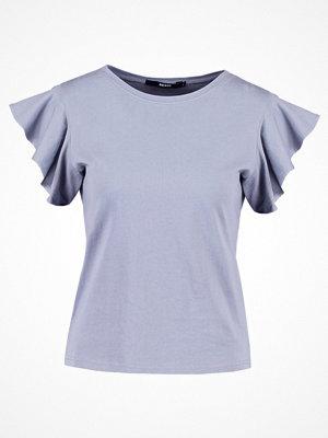 Bik Bok KIRA Tshirt med tryck light blue
