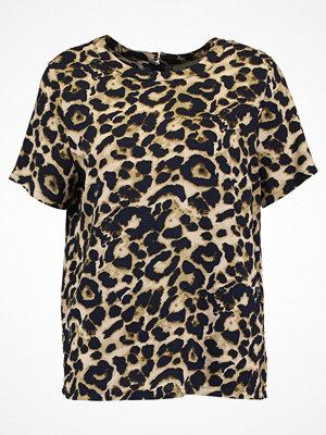 Moves GOLA Tshirt med tryck golden brown