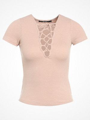 Bik Bok LACY Tshirt med tryck beige