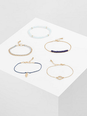 Smycken - Only ONLBETTY 5 PACK Armband goldcoloured