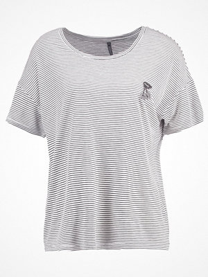 Freequent CINDIE Tshirt med tryck offwhite/black