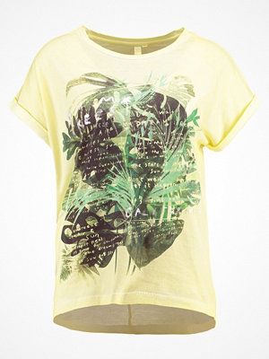 Q/S designed by Tshirt med tryck vanilla placed print