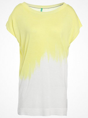 Benetton Tshirt med tryck white/yellow