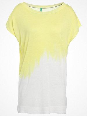 Benetton Tshirt med tryck white/yellow