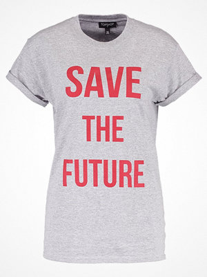 Topshop SAVE THE FUTURE  Tshirt med tryck greymarl