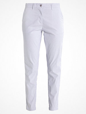 Selected Femme vita byxor SFALNA STRIPED Chinos white/blue