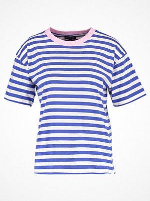 Topshop STRIPE Tshirt med tryck blue