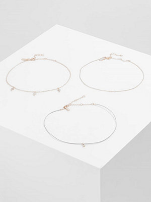 Smycken - Topshop 3 PACK Halsband goldcoloured