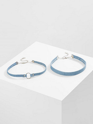 Smycken - Topshop 2 PACK Halsband blue