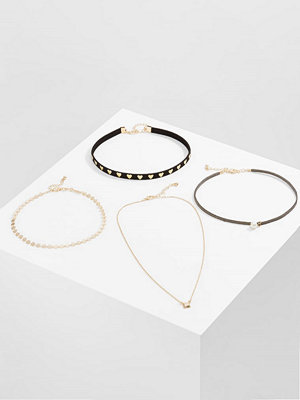 Smycken - Only ONLALICE 4 PACK  Halsband goldcoloured