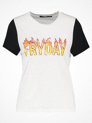 Bik Bok SIRI Tshirt med tryck white