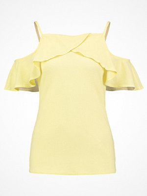 Dorothy Perkins COLD SHOULDER Tshirt med tryck yellow