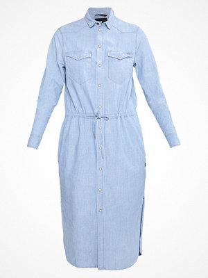 G-Star GStar TACOMA LONG SHIRT DRESS LS Skjortklänning lt wt blue lockstart chambray