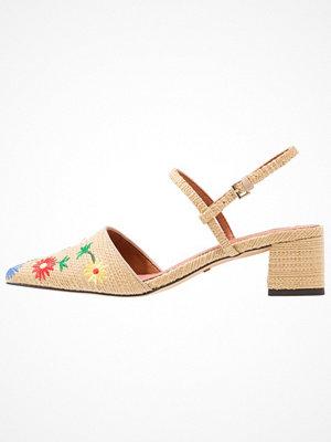 Topshop JASMINE EMBROIDERY Sandaler & sandaletter nude