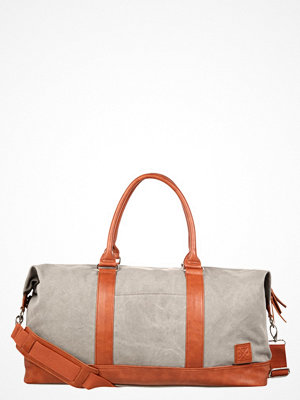 YourTurn Weekendbag grey/cognac omönstrad