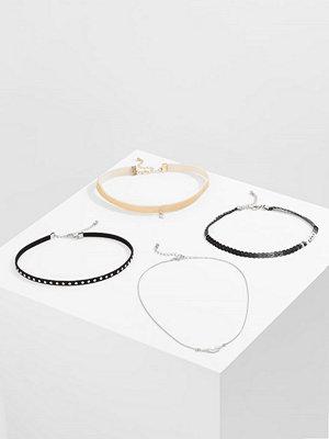 Smycken - Only ONLANN 4 PACK CHOKER Halsband black