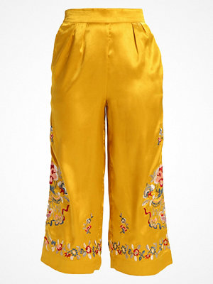 Topshop Petite Tygbyxor yellow