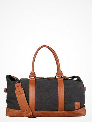 YourTurn Weekendbag washed black/cognac omönstrad