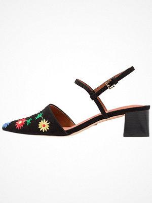Topshop JASMINE EMBROIDERY Sandaler & sandaletter black