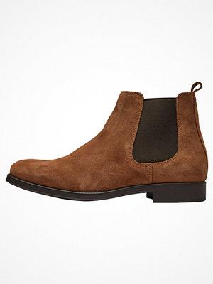 Boots & kängor - Selected Homme Stövletter cognac