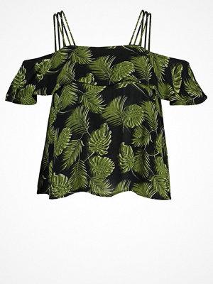Superdry PEEKABOO PALM Blus khaki/black shadow
