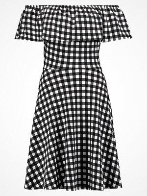 Dorothy Perkins GINGHAM BARDOT  Jerseyklänning black