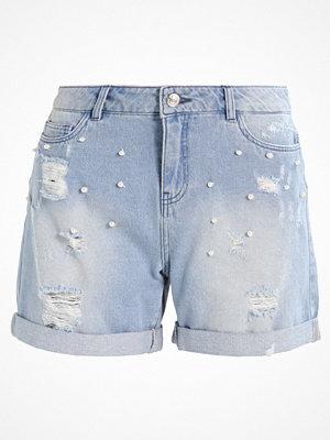 Shorts & kortbyxor - Only ONLPEARL  Jeansshorts light blue denim