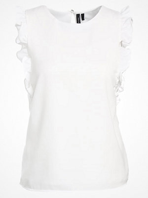 Vero Moda VMVEGAS FRILL Tshirt med tryck snow white