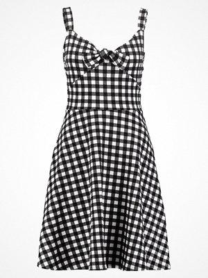 Dorothy Perkins GINGHAM TIE  Jerseyklänning black