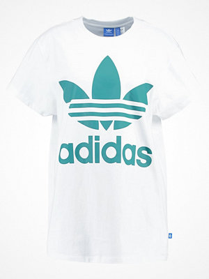 Adidas Originals BIG TREFOIL Tshirt med tryck white/green