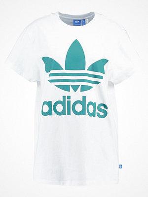 Adidas Originals BIG TREFOIL Tshirt med tryck white/green