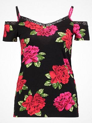 Dorothy Perkins COLD SHOULDER Tshirt med tryck black/red