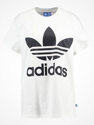 Adidas Originals BIG TREFOIL Tshirt med tryck white/black
