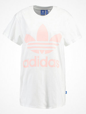 Adidas Originals BIG TREFOIL Tshirt med tryck white/ice pink