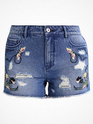 Shorts & kortbyxor - Only ONLPACY  Jeansshorts dark blue denim