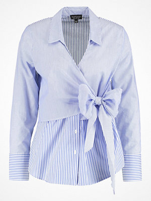 Topshop TIE WRAP POP Skjorta lightblue