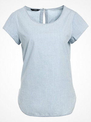 T-shirts - Only NOVA Tshirt bas light blue denim/licht blue
