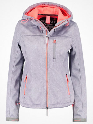Superdry Allvädersjacka light grey grit/shock coral