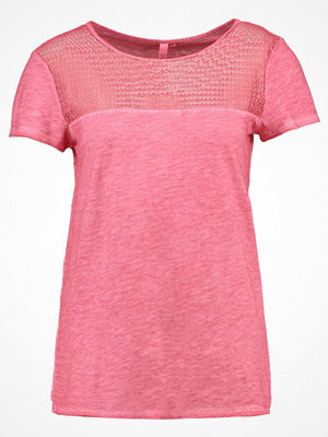 Q/S designed by Tshirt med tryck soft pink