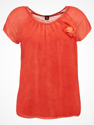 s.Oliver BLACK LABEL Tshirt med tryck sunset orange